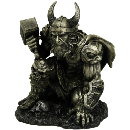 Crouching Thor Statue