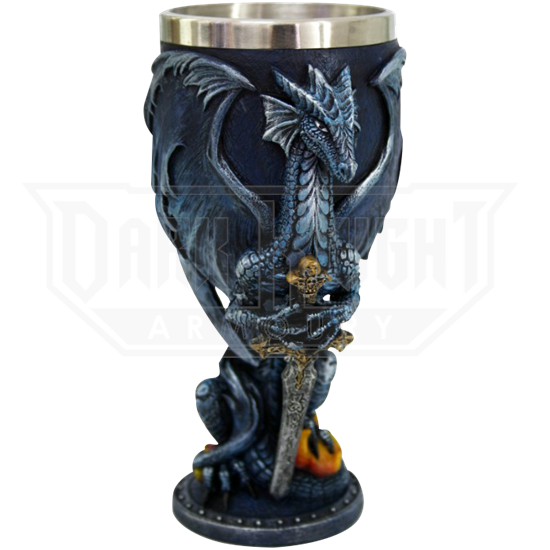 Blue Dragon with Sword Goblet