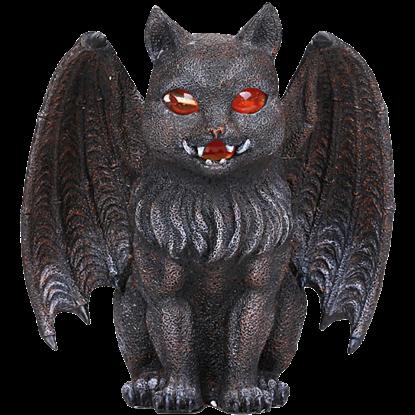 Gargoyle Cat Candle Holder