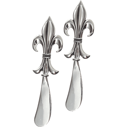 Fleur-de-Lis Spreader Knives - Set of 2