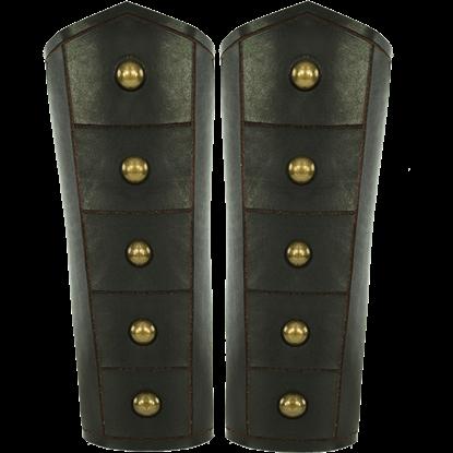 Brass Riveted Warrior Bracers