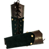 Warrior King Suede Leather Bracers