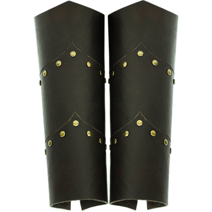 Warriors Studded Leather Bracers