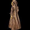 Hooded Renaissance Sorceress Dress - Bronze