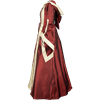 Hooded Renaissance Sorceress Dress - Burgundy