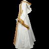 Hooded Renaissance Sorceress Dress - White