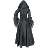 Alluring Damsel Dress with Hood - Black with Silver