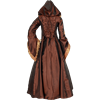 Alluring Damsel Dress with Hood - Copper
