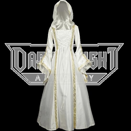 Hooded Medieval Wedding Dress