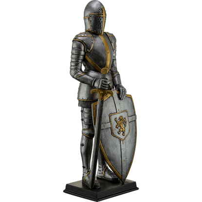 Lion Crest Suit of Armor Statue