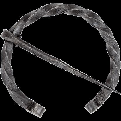 Twisted Viking Penannular Brooch