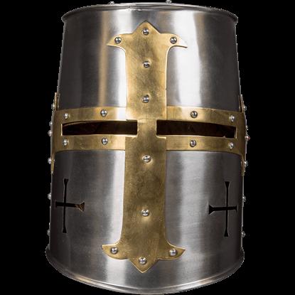 Crusader Helmet - 18 Gauge