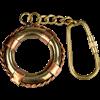 Brass Life Preserver Keychain