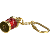 Brass Lantern Keychain - Red