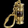 Brass Oil Lamp Keychain