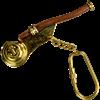 Brass Boatswain Whistle Keychain
