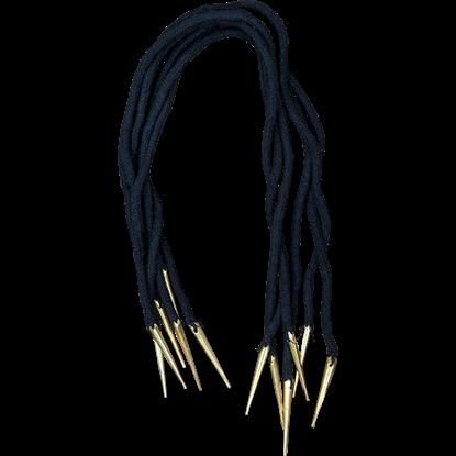 Pointed Brass Tip Tie Strings