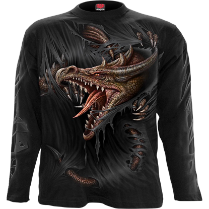 Breaking Out Dragon Long Sleeve T-Shirt