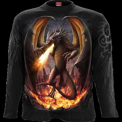 Draco Unleashed Dragon Long Sleeve T-Shirt
