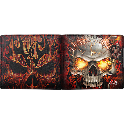 Skull Blast RFID Blocking Bifold Wallet