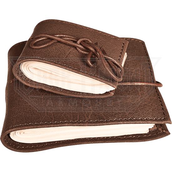 Large Leather Covered Pocket Journal