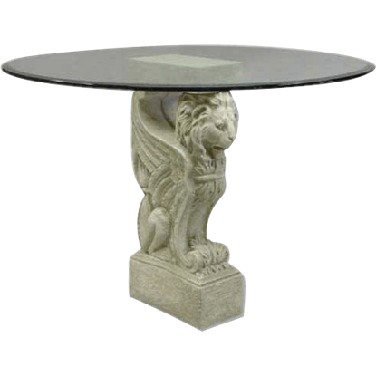 Winged Lion Console Base - 32 Inches
