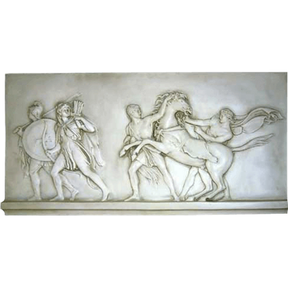 Warriors and Slaves Greek Wall Relief