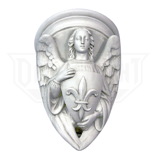 Angel with Fleur-de-Lis Shield Wall Plaque