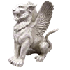 Large Mystical Winged Lion Statue