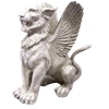 Small Mystical Winged Lion Statue