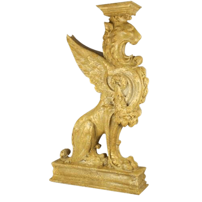 Colossal Winged Lion Pedestal
