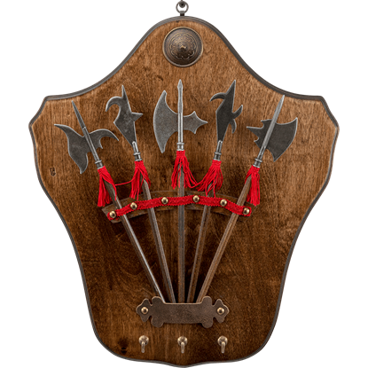 Mini Halberd Display Plaque with Pegs