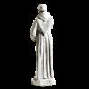 Saint Francis Holding Cross Statue