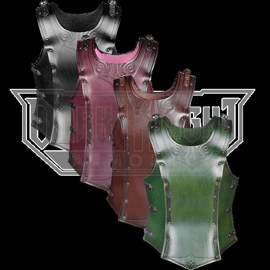 Artemis Embossed Leather Cuirass for Ladies