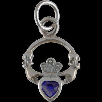 Silver Claddagh Birthstone Charm
