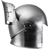 Visored Barbuta Helmet - Polished