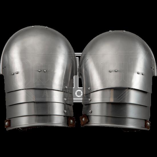 Knights Steel Pauldrons - Polished