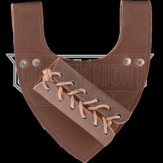 Angled Medieval Sword Frog - Brown