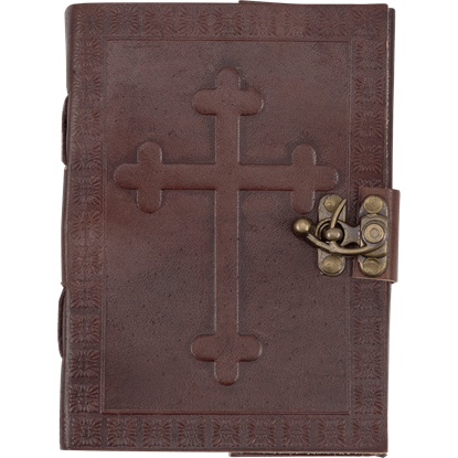 Celtic Cross with Knotwork Leather Journal with Lock