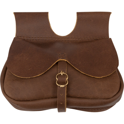 Buckled Travelers Pouch - Brown