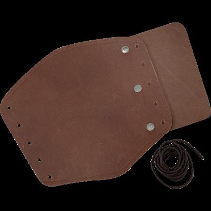 Simple Leather Wrist Bracers- Brown