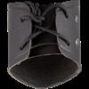 Simple Leather Wrist Cuff - Black
