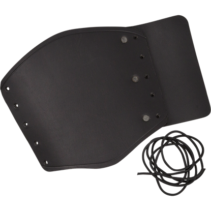 Simple Leather Wrist Bracer - Black