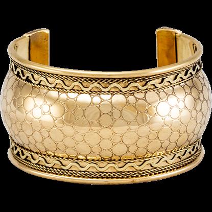 Embossed Brass Bangle