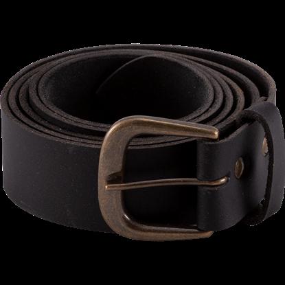 Double Studded Medieval Leather Belt - Black