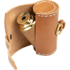 Brown Leather Wrapped Telescope with Pouch