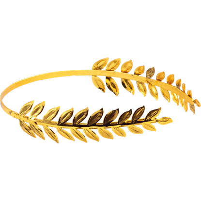 Brass Leaf Roman Hair Band