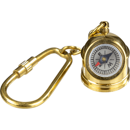 Brass Diving Helmet Compass Keychain