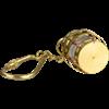 Brass Anchor Lantern Keychain