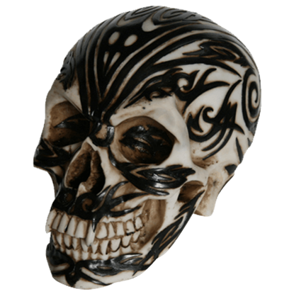 Black and Bone Tribal Skull